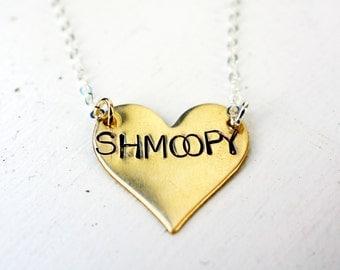 Shmoopy Necklace- Handmade Seinfeld Valentine's Day Necklace