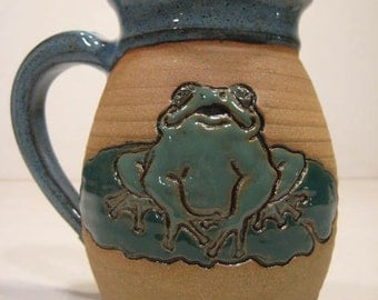 froggie on the Lilly Pad Mug  ........   a52
