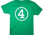 Kids CIRCLE Fourth Birthday T-shirt - Green