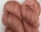 Silk Yarn - Hand Dyed Worsted weight - Shade: Amber (5)