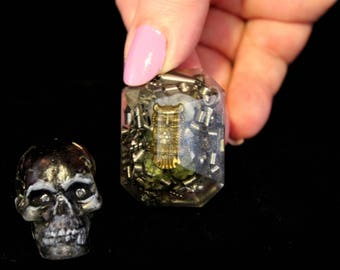 Garnet Skull and Wise Owl Orgone Energy Bliss Bombs