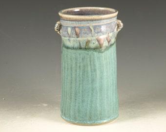 Windowsill Flower Vase - hand thrown stoneware pottery