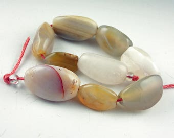 Destash Jewelry Making supplies, Polished agate beads, Jewelry supplies, stone bead, natural bead