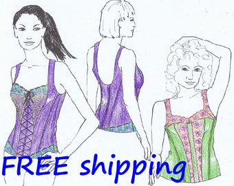 FREE Ship Pattern BUS2 for 2 BUSTIER Corset style by Merckwaerdigh