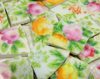 China Mosaic Tiles - AnTiQuE HaND PAiNTeD RoSeS - Mosaic Tiles