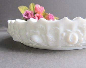 Vintage Milk Glass Ashtray, Milk Glass Art Dish, Candy Dish, Milk Glass Change Dish, Jewelry Dish, Wedding Decoration