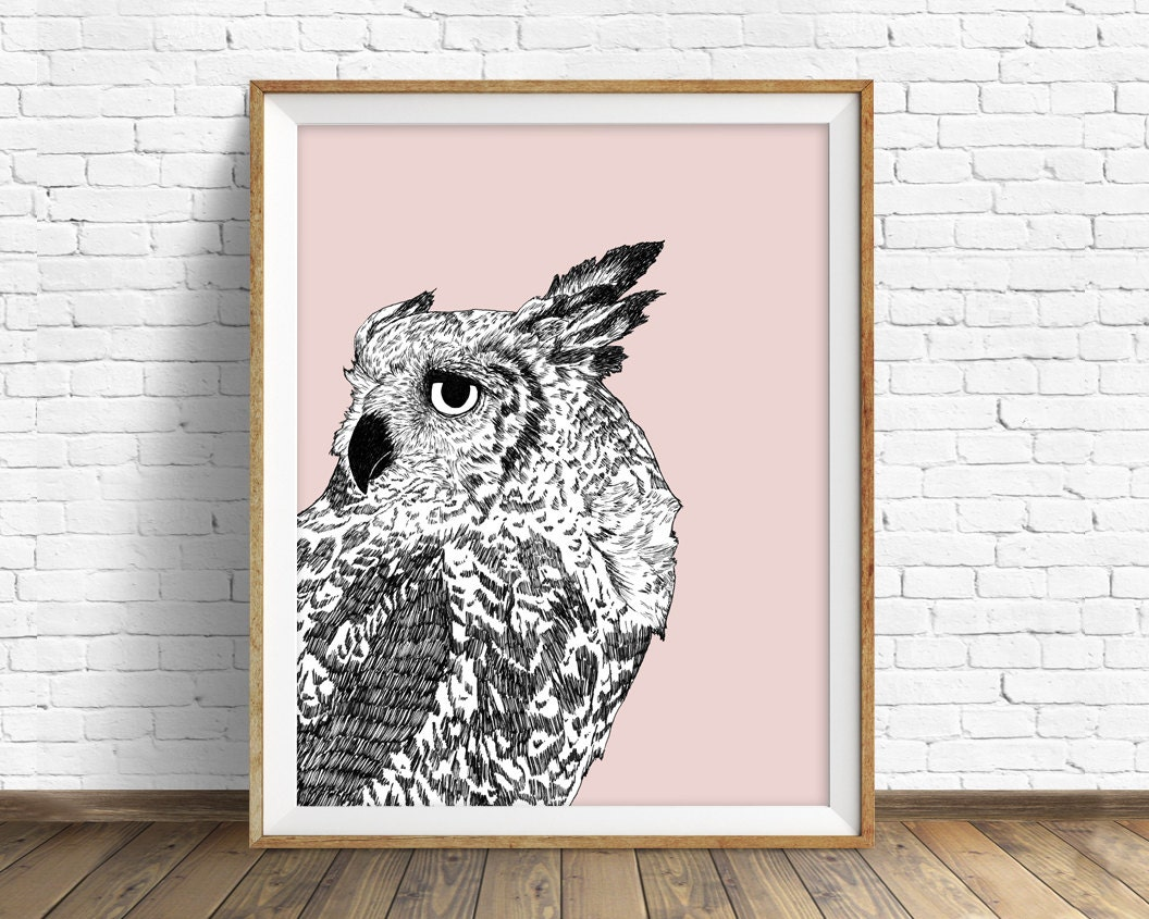owl owl decor woodland animals large art large wall art modern minimalist wall art prints art prints art dreaming of full moons