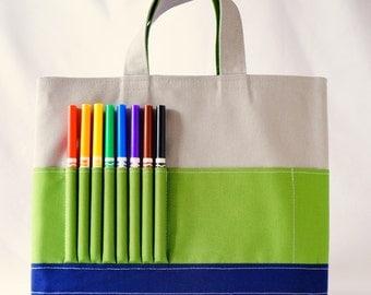 Crayon Tote • Crayon Bag • Coloring Bag • Art Tote • Crayon Holder • Crayon Roll • Ring Bearer • Busy Bag • Activity • ARTOTE • Snow Park
