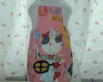 Cooking Kitty.. Soap Bottle Apron