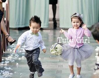 Flower Girl Tutu for Girls, Baby Toddler Girls Wedding - CUSTOM skirt for flower girl baby toddlers