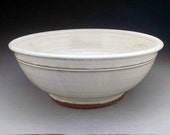 "16 1/4"" x 6 1/4""  Handmade Pottery Vessel Sink in Cream/White/Gray - Designed for your Bathroom Remodeling - Ready to Ship"