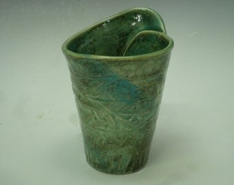 Green Stoneware Cup