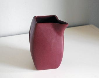 Niloak Pottery Pitcher, 1930s Ceramic Pitcher, Maroon Red Pitcher, American Art Pottery, Fine Art Ceramics, Vintage Kitchen Decor