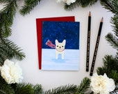 Custom Listing for Erin- Frenchie in The Snow Card Set of 24 additional cards