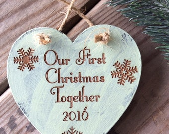 Our First Christmas Together Ornament, Newly Wed Ornament, Wedding Gift, Christmas Wedding Gift