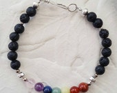 Aromatherapy Chakra Bracelet with Silver accents