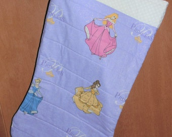 Oversized Quilted Christmas Stocking Princess Disney Snow white cinderella Free Personalization