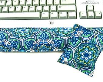 Office Desk Set: Keyboard Wrist Rest Support for Keyboard, Mouse Pad, Computer Hot Cold Pack, Wrist Pad, Desk Set,