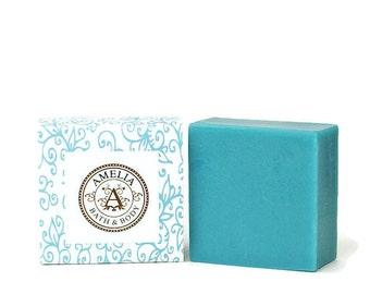Island Mist Soap | Shea Butter Soap, Ocean Scented Soap, Fresh Scent, Vegan Soap, Luxury Soap | Island Mist Shea Butter Soap in Large Size
