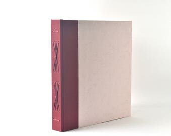 Pale Pink Sprigs Handbound Journal, Pink & Burgundy Starburst Album, Floral Hardcover Sketchbook