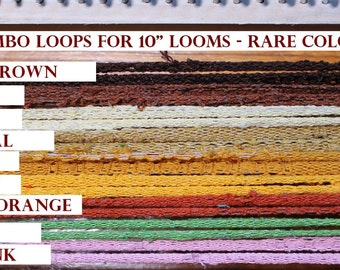 Jumbo Cotton Loops, RARE COLORS! Potholders sock loopers Made in USA!    Recycle! Weave rugs, hotpads, purses, mats.
