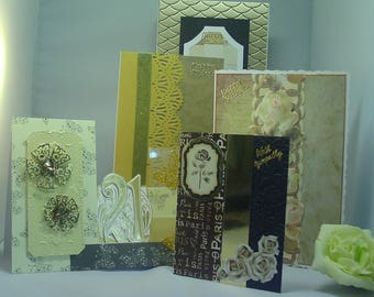 Five hand crafted greeting cards - with sympathy, birthday, 21, 3D