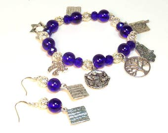 Passover Charm Bracelet Set - Passover Gifts - Seder Gifts