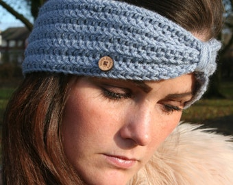 Handmade Crochet 'Olivia' Headwarmer Earwarmer Headband Stylish Accessory