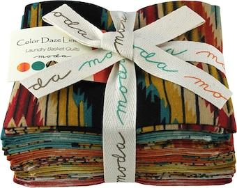SALE 50% Off Moda Color Daze Linens Fat Quarter Bundle 8 Precut Cotton Fabric Quilting FQs 42236ABL