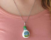 Ranch Dressing Necklace - Ranch Jewelry - Food Jewelry - Miniature Food - Salad Dressing - Necklace