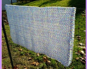 Hand Crocheted Soft Pastel Baby or Lap Blanket