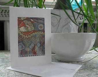 India Inspired ATC greeting card ACEO OOAK