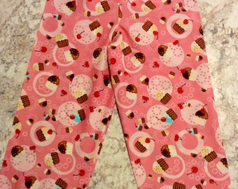 BIRTHDAY CUPCAKE cotton  Pajama/Lounge Pants  Available in children's sizes 0-3 months to size 7 almost gone