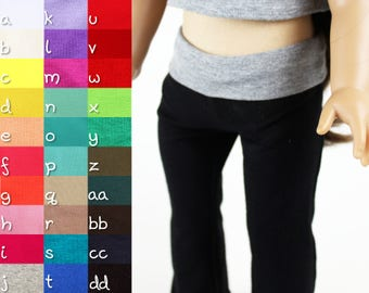Fits like American Girl Doll Clothes - Yoga Pants, You Choose Colors