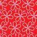 Quilt Camp- Daisies Red - Henry Glass -Cotton Fabric - Half and Yard cuts- Quilters Cotton