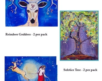 Holiday Greeting Cards - 6 pack - Pagan Goddess Art