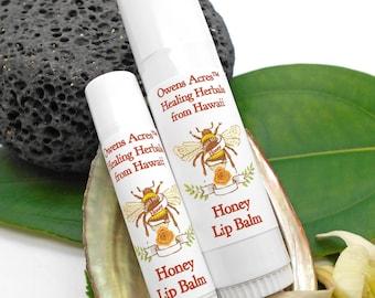 Lip Balm, Honey Lip Balm - Twist Up Tube, Lips, Lip Balm, Dry Lips, Chapped Lips, Lip Balm in a Tube, Hawaii