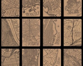 city map large letterpress notebooks