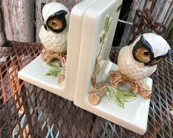 Vintage Otagirl 1979 Owl Bookends Marked Japan