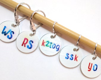 STITCHMARKERS for KNITTERS, ABBREVIATIONS