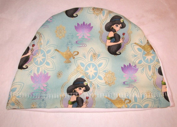 Jasmine  Print  Lightweight  Hat -Chemo, Cancer, Alopecia, Sleep Cap, Child or Adult