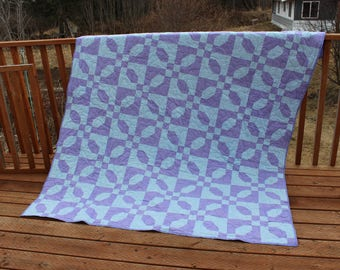 Quilt - blue and purple queen quilt