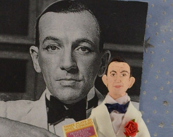 Noel Coward, Music Composer, British Playwright, Doll Miniature, Caricature Art, Author and Writer