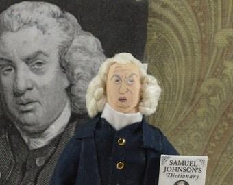 Samuel Johnson, English Dictionary, Author Writer, History of England, Miniature Sized Doll