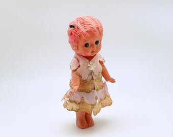 Vintage Celluloid Kewpie Doll Betty Boop Big Eyed Doll