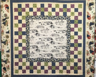 Picking Grapes finished  quilt designed by Katherine Smith for Windham Fabrics   Finished quilt 76 x 76