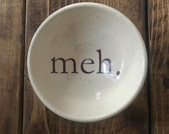 meh white stoneware earring bowl