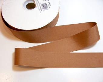 Light Brown Ribbon, Light Brown Grosgrain Ribbon 1 1/2 inches wide x 50 yards, Offray Coffee Grosgrain Ribbon