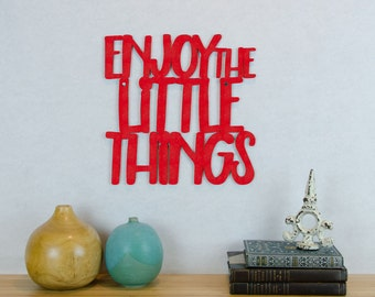 Enjoy The Little Things Sign, Inspirational Wood Sign, New Family Sign, Little Things In Life, Baby Room Sign, Baby Nursery Wall Sign