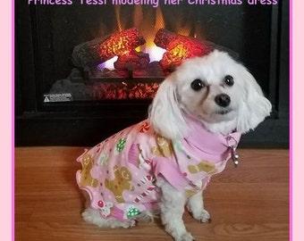 Designer Slip Dress Dog Clothing in Spoonflower Organic Cotton